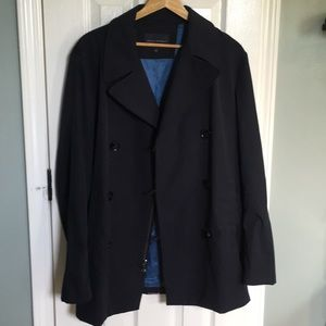 Men's Banana Republic nylon pea coat raincoat L